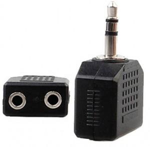 Adaptador bifurcador miniplug